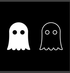 ghost icon set white color flat style simple image vector image
