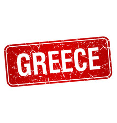 Greece red stamp isolated on white background vector