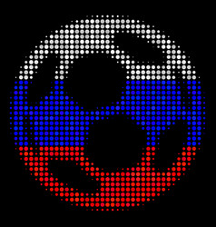 Halftone russian football ball icon vector