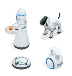 Household isometric robots engineered for people vector
