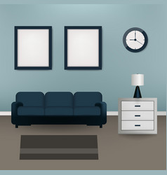 Interior design living room beautiful home vector