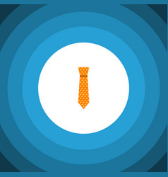 isolated necktie flat icon clothing vector image