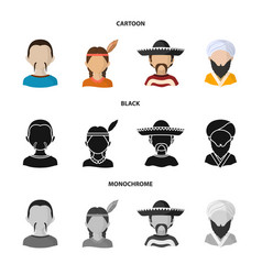 isolated object of imitator and resident icon set vector image