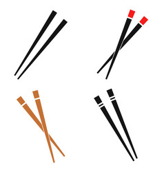japanese traditional chopstick vector image