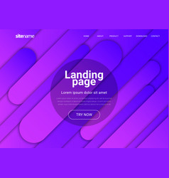 landing page design with geometric abstract shapes vector image