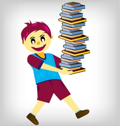 learning books vector image vector image