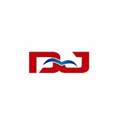 Letter dj logo vector
