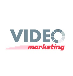 logo lettering Video Marketing vector image