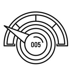 Low credit score icon outline style vector