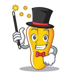 Magician cashew mascot cartoon style vector