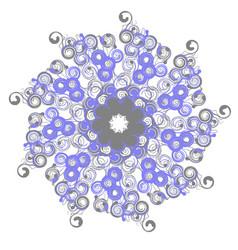 mandala with twists circular pattern vector image