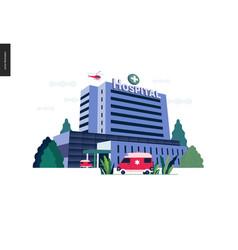 Medical insurance template - hospital vector