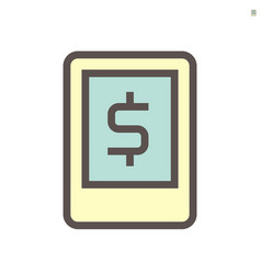 mobil banking icon design for financial graphic vector image