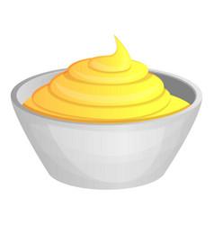 Mustard sauce icon cartoon style vector