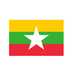 Myanmar flag vector