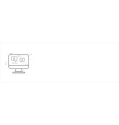 online education thin flat design vector image