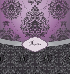 ornate wedding card vector image