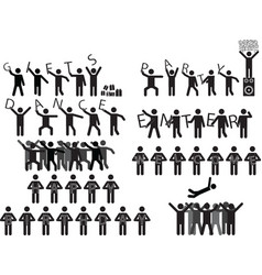 People holding party messages vector image