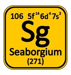 Periodic table element seaborgium icon vector