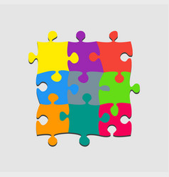 Pieces puzzle banner signboard plate store board vector