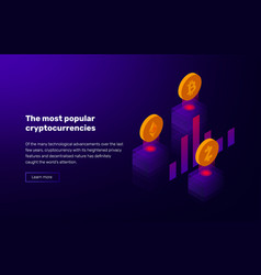 popular cryptocurrency vector image