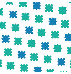 Puzzle pieces background vector