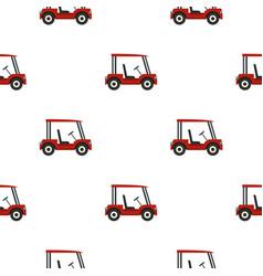 Red golf cart pattern seamless vector