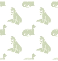 Seamless background funny dinosaur vector