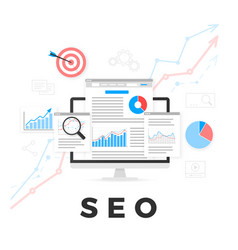 Seo optimization concept search engine vector