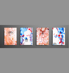 Set creative painted cards hand drawn textures vector