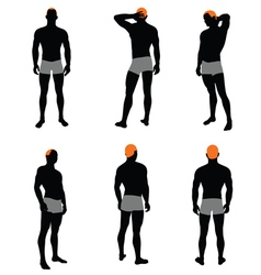 Set of men silhouette vector