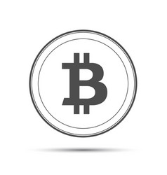 Simple bitcoin icon isolated on white background vector