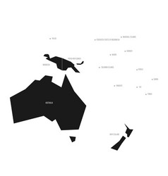 simplified schematic map of australia and oceania vector image