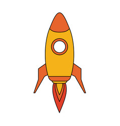 space rocket launch icon vector image