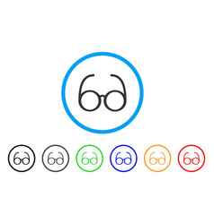 Spectacles rounded icon vector