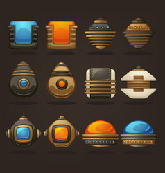 Steampunk asset for your mobile game retro vector