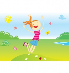 summer cartoon vector image
