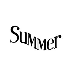 summer isolated hand drawn lettering vector image vector image