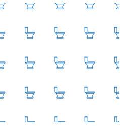 Toilet icon pattern seamless white background vector