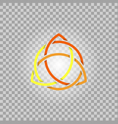 Triquetra in circle trefoil sacral symbol vector