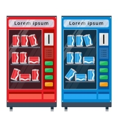 vending machines flat vector image