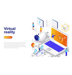 virtual augmented reality glasses modern flat vector image