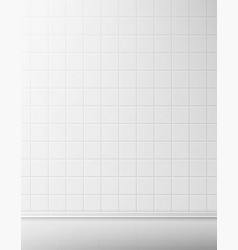 white tile wall and floor in bathroom vector image