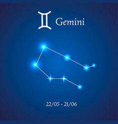 Zodiac constellation gemini twins vector