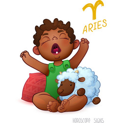 Zodiac sign aries horoscope sign aries african vector
