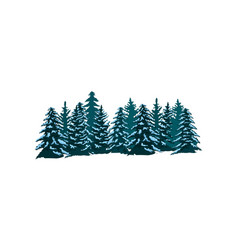 coniferous forest isolated icon vector image