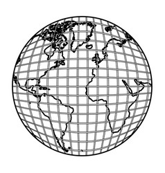earth planet map icon vector image vector image