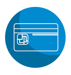 Emblem credit card to save money in the bank vector