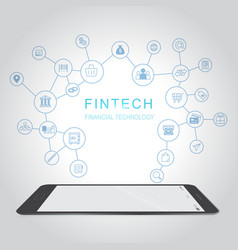 fintech investment financial internet technology vector image vector image