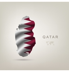 flag of Qatar as a country vector image